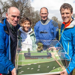 James Cracknell with the COACH model